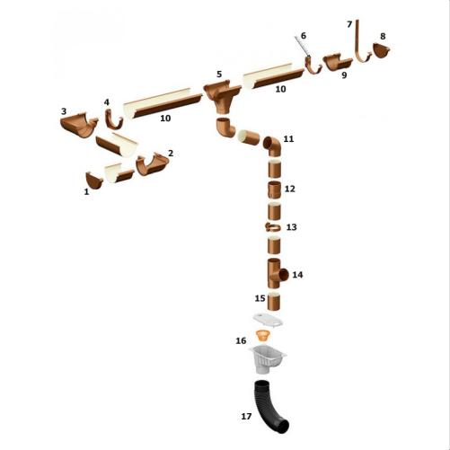 Водосточная система Galeco PVC