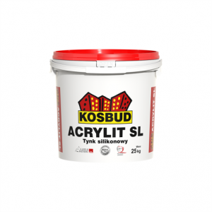 Штукатурка силиконовая, KOSBUD ACRYLIT-SL, барашек, база