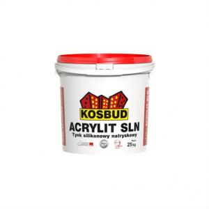 Штукатурка силиконовая машинного нанесения, KOSBUD ACRYLIT-SLN, барашек, база